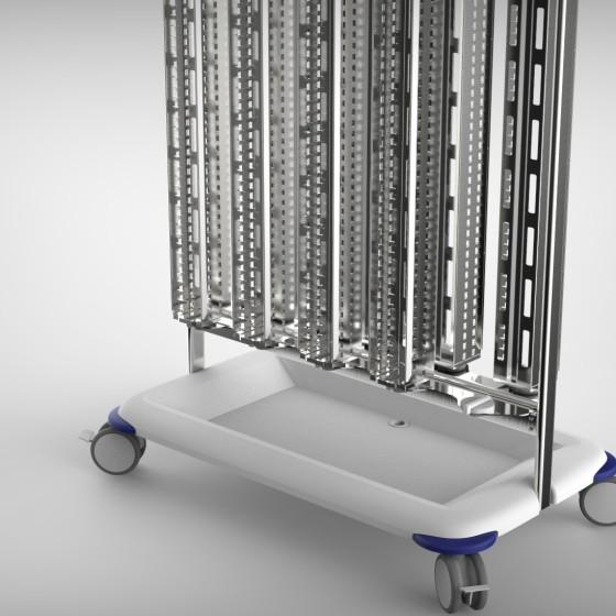 Biomérieux Chariot de transport pour boites de Petri